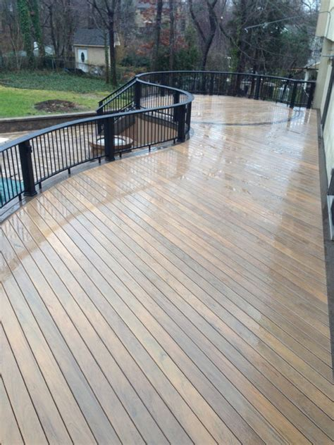 Tiger Wood Decking by Timbertech Legacy Tigerwood Decking With Legacy Mocha