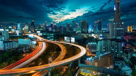 full hd wallpaper bangkok thailand top view night desktop