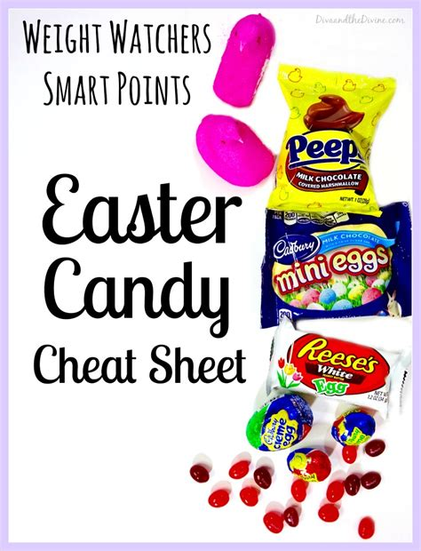 Easter Candy Cheat Sheet Weight Watchers Smart Points Edition  Diva And The Divine