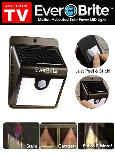 zen salt l as seen on tv everbrite motion activated outdoor led light as seen on