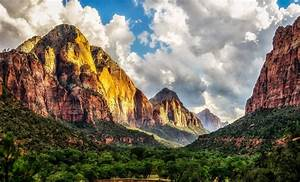 Zion, National, Park, Utah, Trees, Clouds, Nature, Hd, Wallpapers, Desktop, And, Mobile, Images, U0026, Photos