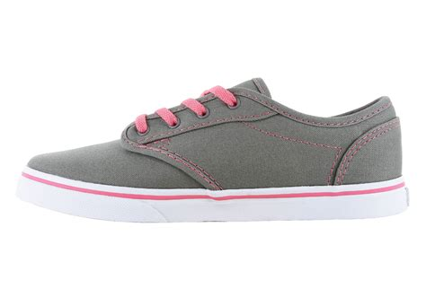 Girls Vans Atwood Low Canvas Gray/pink