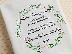 Geschenke Für Schwiegereltern : geschenk schwiegermutter taschentuch gastgeschenke ~ A.2002-acura-tl-radio.info Haus und Dekorationen
