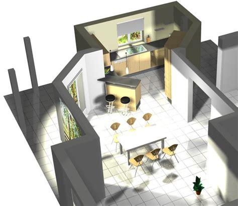 plan de maison avec cuisine ouverte cuisine ouverte comment habiller l 39 arrière du bar 26 messages
