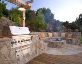 fire pit by pool bbq side of house the great