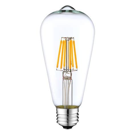 st64 led filament bulb 6 watt dimmable 40w equiv 600