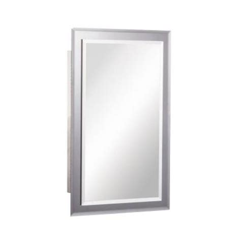 Home Depot Medicine Cabinet No Mirror mirror on mirror 16 in w x 26 in h x 5 in d recessed