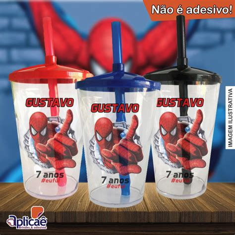 Copo Twister Personalizado Homem Aranha Mod 2 500 ml no
