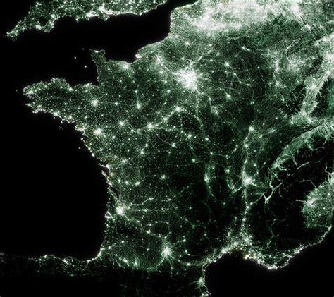 carte de pollution lumineuse de france version emeraude