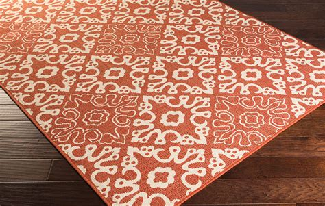 Rust Colored Rug by Rust Colored Patterned Rug Decoist