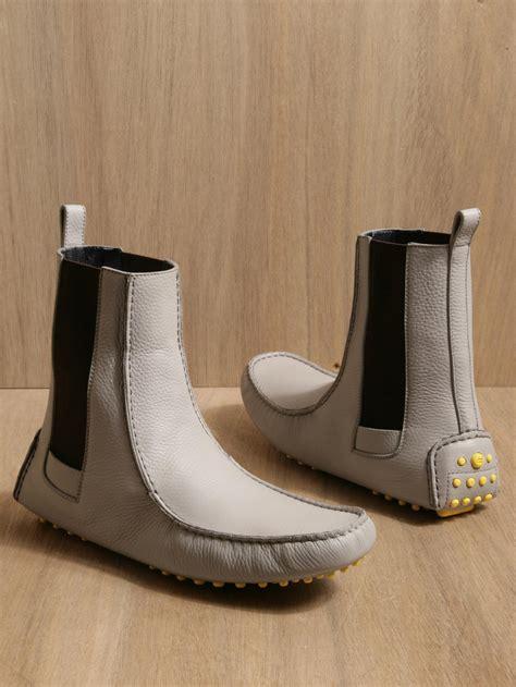 balenciaga mens chelsea boots  gray  men grey lyst