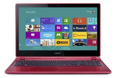 pc portable acer aspire  pg rouge