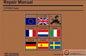 Toyota Industrial Equipment Tonero Series Repair Manual Cd