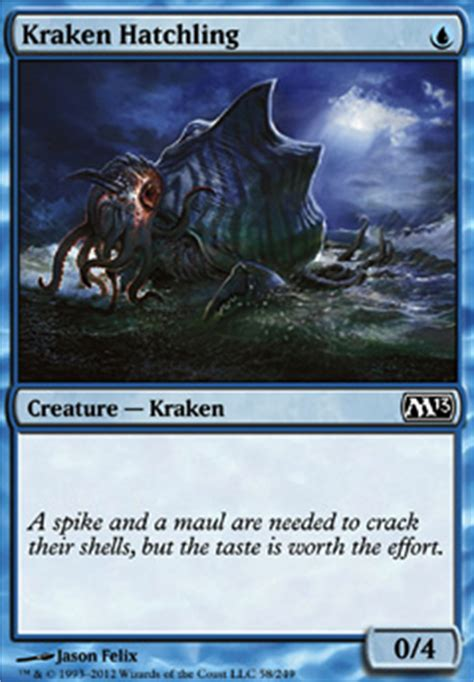 Mtg Blue Green Kraken Deck by Kraken Hatchling Mtg Card