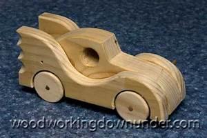 Wooden Toy Car Plans fun project free design Batmobile
