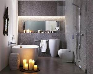 Kleine Moderne Badezimmer : badezimmer kleine r ume in grau mosaik wandfliesen dekor ~ Sanjose-hotels-ca.com Haus und Dekorationen