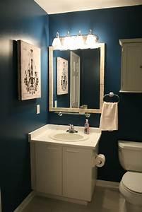 Dark blue bathroom designs and brown
