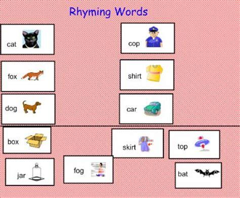 rhyming words smart board lesson classroom stuff
