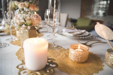 une d 233 co de table de no 235 l blanc et or vintage sous notre toit