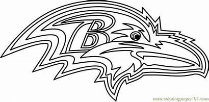 Ravens Coloring Nfl Baltimore Football Helmet Sheets