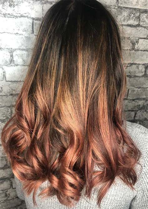 rose brown hair trend  magical rose brown hair colors