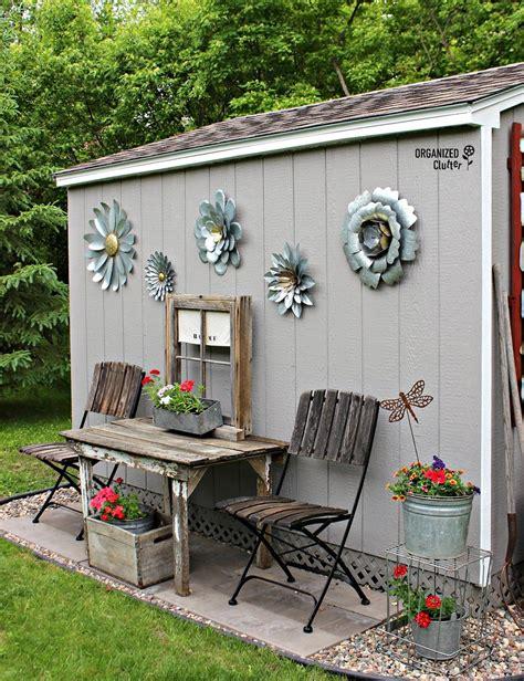 junk garden shed outdoor garden decor shed decor