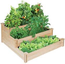 awardpedia greenes 4 ft x 4 ft x 21 in tiered cedar raised garden bed