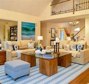 Beach house living room beach theme decor themed rugs for Themes for living rooms