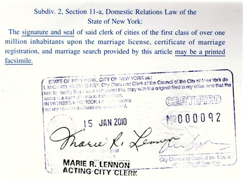 marriage certificate apostille marriage license
