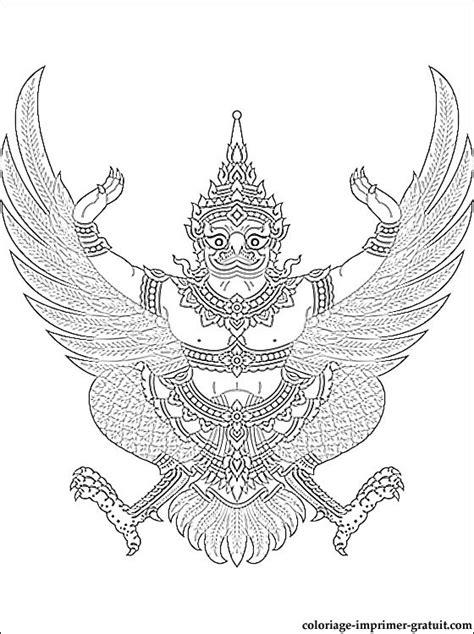 coloriage avec le blason de la thailande  imprimer coloriage  imprimer gratuit