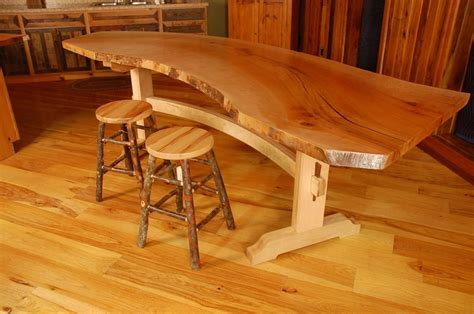 handmade sycamore  edge slab dining table  corey