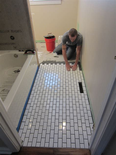Floor White Subway Tile Home Depot   Home Design Ideas