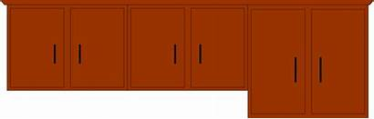 Cabinet Kitchen Clip Cupboard Clipart Vector Cliparts