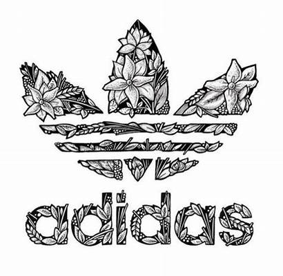 Adidas Coloring Pages Drawing Sketch Sneakers Backgrounds