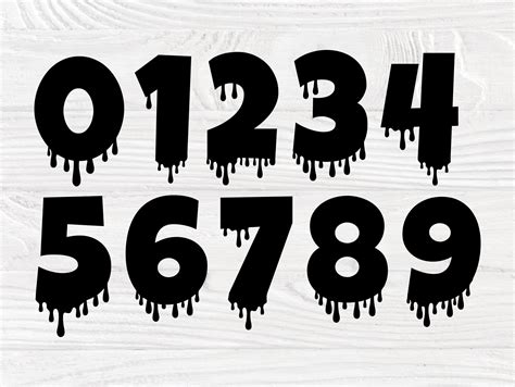 dripping font svg dripping letters alphabet svg