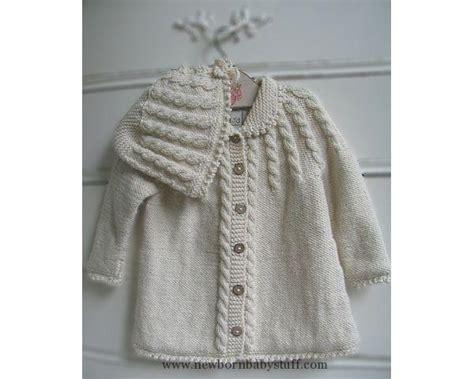 Baby Knitting Patterns Zia & Tia Organic Hand Knit Cable Matinee Sweater