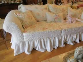 shabby sofa custom shabby sofa chic chenille bedspread by vintagechicfurniture