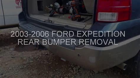 ford expedition bumper removal youtube