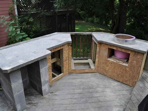 simple outdoor kitchen ideas outdoor simple outdoor kitchen countertop material how