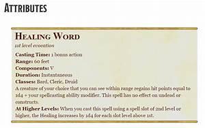 Healing Word 5e  U2013 D U0026d Spell
