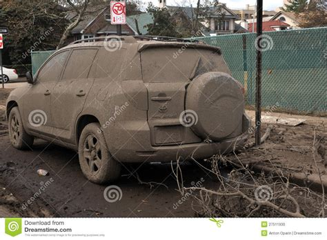 Flooded And Abandoned Car Editorial Image  Image 27511930