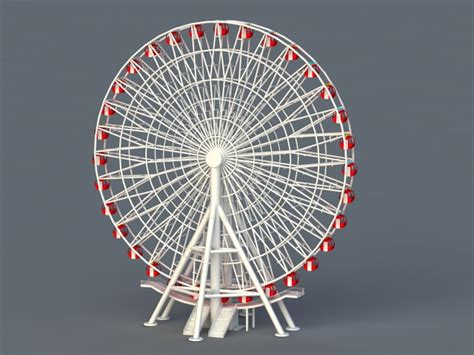 amusement park ferris wheel ride  model ds max files