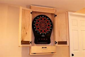 Build a Simple Dartboard Cabinet WoodWorkers Guild of