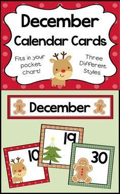 november pocket chart calendar numbers preschool