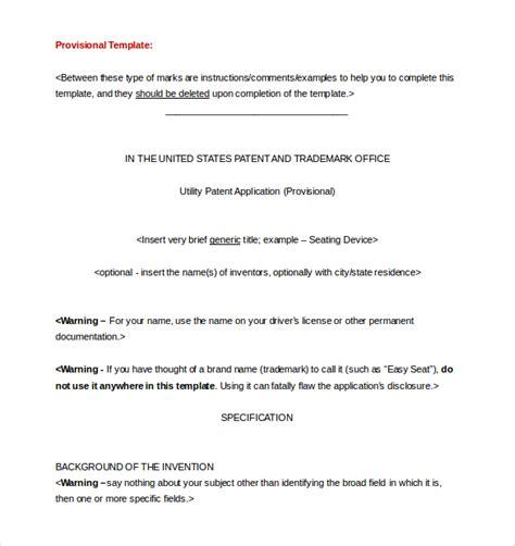 provisional patent application template patent application template 12 free word pdf documents free premium templates