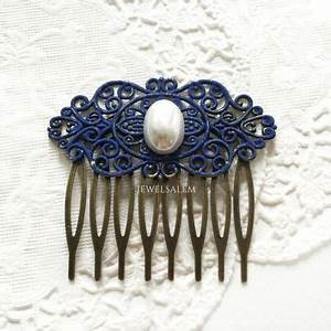 Best Bridesmaid Hair Accessories Navy Blue Products On Wanelo