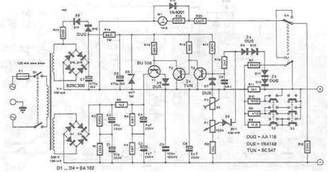 Variable Power Supply Circuit Design Diagram