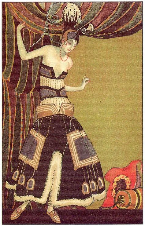 the flapper m montedoro deco postcard 4 1920s
