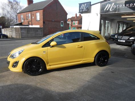 vauxhall yellow second hand vauxhall corsa 1 2i 16v limited edition 3dr