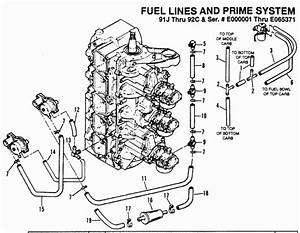 Force 150 Hp  1989-1992  Fuel Prime System  91j